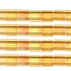 Miyuki Tila Beads 5X5mm 2 Hole Light Amber Transparent Aurora Borealis